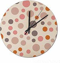 Wall Clock White 15 Inch Simply Modern Polka Dot