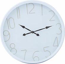 Wall Clock white Frame / White Finish Frame Clocks