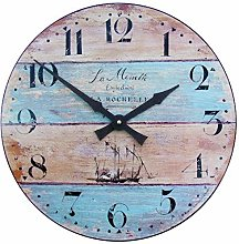 Wall Clock with Driftwood Effect - 36cm