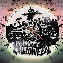 Wall clock with happy halloween wall clock horne