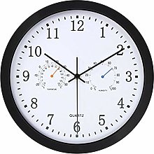 Wall Clock With Temperature and Humidity,Non