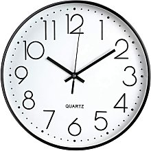 Wall clock without ticking, Modern, silent, Large