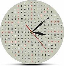 Wall clock Word Search Novelty Wall Clock Silent