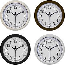 Wall Clocks Black/Cream/Silver/Brown (One Random