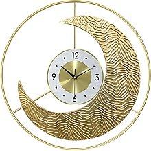 Wall Clocks for Living Room Modern Gold, 50cm