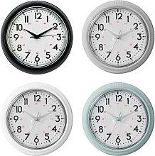 Wall Clocks Green, Black, Silver & Cream (One