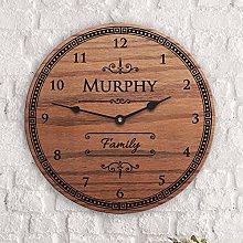 Wall Clocks Irish Decor Irish Surname Custom Last