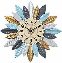 Wall Clocks Leaf Shape Modern Decorative Wall