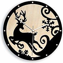 Wall Clocks12 inch Elk Wall Clock Elk King Running