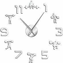 Wall Clockweightlifting Fitness Room Wall Decor
