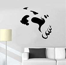 Wall Decal Ghost Footprints Monster Spirit