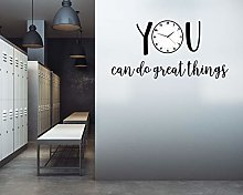 Wall Decal Vinyl Wall Art, You Can Do Great Things