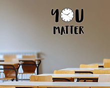 Wall Decal Vinyl Wall Art, You Matter Clock Wall