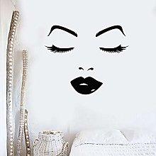 Wall Decals Beauty Salon Woman face Lips Eyes