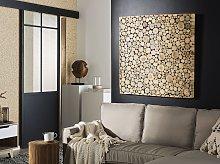 Wall Decor Light Wood Teak Accent Piece Home