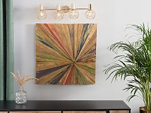 Wall Decor Multicolour Teak Wood 70 x 70 cm Square