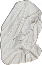 WALL DECORATION MADONNA FACE ANTIQUE WHITE FINISH