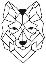 Wall Decoration Wolf - Wall Art Wall - Wolf - for