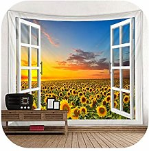 Wall Fabric Tapestry| Falling Sunflower Print