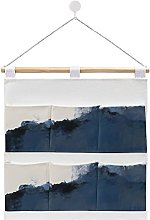 Wall Hanging cotton linen storage bag,Abstract