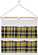 Wall Hanging cotton linen storage bag,Cornish