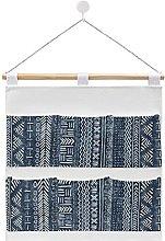Wall Hanging cotton linen storage bag,Mud Cloth