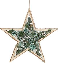 Wall Hanging Decoration Star Shaped Wooden