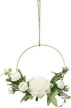 Wall Hanging Golden Flower Wreaths Artificial