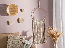 Wall Hanging Macrame Natural Cream Beige Art Boho