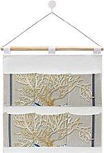 Wall Hanging Storage Bag,Indigo Ocean Nautilus