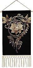 Wall Hanging Tapestry,Art Nouveau Flower Jewel