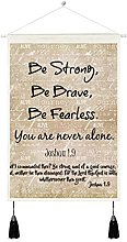 Wall Hanging Tapestry Art,Strong,Brave,Fearless