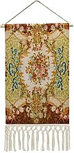Wall Hanging Tapestry,Baroque Victorian Floral