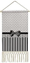 Wall Hanging Tapestry,Black And White Victorian