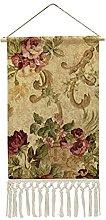 Wall Hanging Tapestry,Elegant Vintage Floral Rose