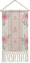 Wall Hanging Tapestry,Shabby Chic victorian floral