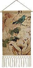 Wall Hanging Tapestry,Victorian Rose Bird Paris