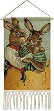 Wall Hanging Tapestry,Vintage Victorian Easter