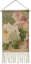 Wall Hanging Tapestry,Vintage Victorian Rose Wall