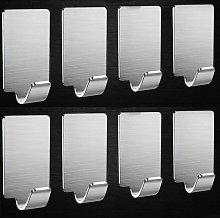 Wall hook 8 pieces hook towel rack stainless steel