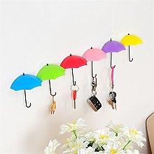 Wall Hook,Diadia 6Pcs Colorful Umbrella Wall Hook