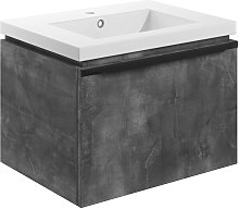 Wall Hung 1-Drawer Vanity Unit with Basin 615mm