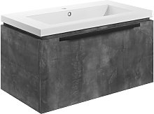 Wall Hung 1-Drawer Vanity Unit with Basin 815mm