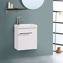 Wall Hung Vanity Sink Unit Bathroom Basin Cabinet