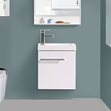 Wall Hung Vanity Sink Unit Bathroom Basin Cabinet