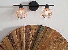 Wall Lamp 2 Lights Copper Metal Sconce Adjustable