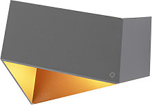 Wall lamp Fold gray with copper