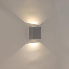 Wall lamp gray IP54 incl. LED - Squad