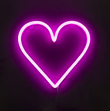 Wall lamp Pink Neon with Remote Control incl. LED