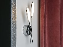 Wall Lamp Silver Metal 2 Lights LED Novelty Shape